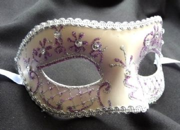 Lilac jewelled glitter Petite Mask